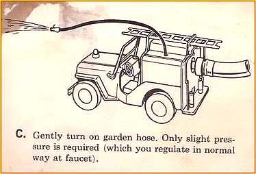 1964 Model 425 Jeep Pumper Instruction Sheet Page 3