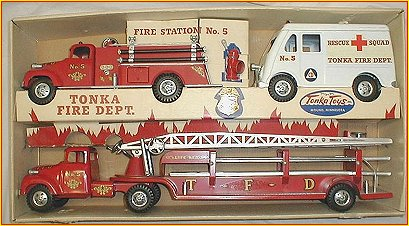 1956 Model 900-6 Tonka Fire Department Set