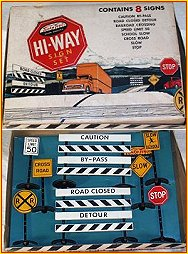 1957 Model AC300 Hi-Way Sign Set