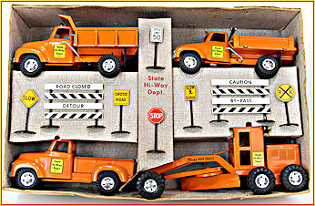 1957 Model B210 State Hi-Way Construction Set