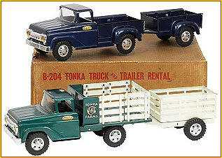 1958 Model B204 Truck & Trailer Rental Set