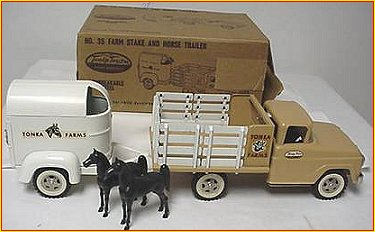 1959 Model 35 Farm Stake and Horse Trailer