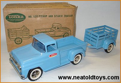 Tonka #528 Pick-up & Stake Trailer Made in New Zealand
